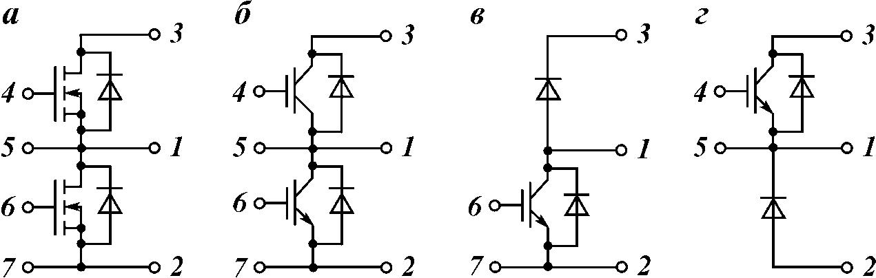 Схемы силовых модулей: